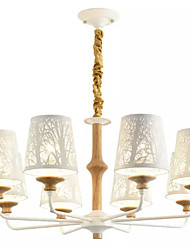 baratos -QIHengZhaoMing 8-luz Lustres Luz Ambiente - Cristal, 110-120V / 220-240V Lâmpada Incluída