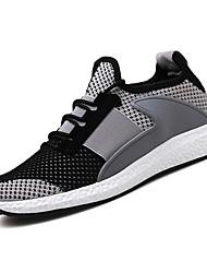 Недорогие -Муж. Сетка Лето Удобная обувь Спортивная обувь Для прогулок Контрастных цветов Черный / Бежевый / Серый