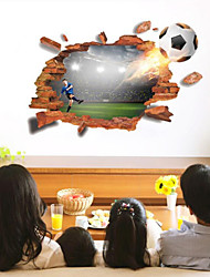 Недорогие -Декоративные наклейки на стены - 3D наклейки Футбол / 3D Гостиная / Спальня / Ванная комната