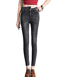 cheap -Women's Street chic Jeans Pants - Solid Colored