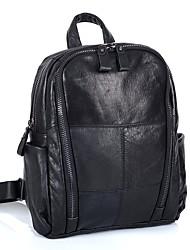Недорогие -Жен. Мешки Кожа рюкзак Молнии Геометрический принт Черный