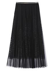 billige -Dame A-linje Nederdele - I-byen-tøj Ensfarvet