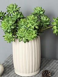 Недорогие -Искусственные Цветы 1 Филиал Классический / Односпальный комплект (Ш 150 x Д 200 см) Простой стиль / Modern Pастений / Вечные цветы / Суккулентные растения Букеты на стол