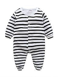 Недорогие -3 предмета малыш Девочки Активный Черное и белое Однотонный Короткие рукава Лён Bodysuit / Дети (1-4 лет)