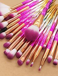 abordables -Paquete de 20 Pinceles de maquillaje Profesional Sistemas de cepillo / Cepillo para Colorete / Pincel para Sombra de Ojos Fibra de nilón / Fibra Suave / Cobertura completa Plástico