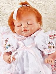 baratos -FeelWind Bonecas Reborn Bebês Meninas 18 polegada realista de Criança Para Meninas Dom
