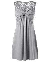 preiswerte -Damen Grundlegend Etuikleid Kleid - Spitze, Solide Mini