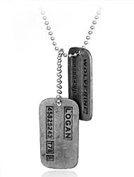 Недорогие -Муж. Ожерелья с подвесками - Простой, Мода, Steampunk Серебряный 45 cm Ожерелье Бижутерия 1шт Назначение Повседневные, Для улицы