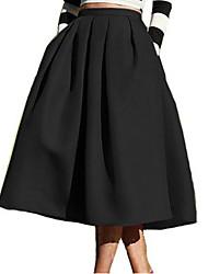 cheap -Women's Basic A Line Skirts - Solid Colored High Waist / Summer