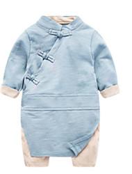 お買い得  -赤ちゃん 男の子 ソリッド 長袖 ワンピース
