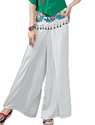 cheap -Women's Chinoiserie Cotton Loose Wide Leg Pants - Floral Embroidered / Spring