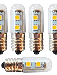 billige -5pcs 1 W 250-280 lm E14 LED-kolbepærer 7 LED Perler SMD 5050 Dekorativ Varm hvid / Kold hvid 220-240 V