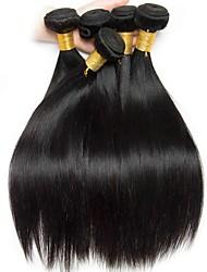 baratos -6 pacotes Cabelo Brasileiro Liso Cabelo Humano Cabelo Humano Ondulado / Extensões de Cabelo Natural 8-28 polegada Tramas de cabelo humano Sem Touca Design Moderno / Melhor qualidade / Venda imperdível