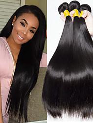 cheap -Brazilian Hair Straight Natural Color Hair Weaves / Human Hair Extensions 3 Bundles 8-28 inch Human Hair Weaves Capless Fashionable Design / Best Quality / Hot Sale Natural Black Human Hair Extensions
