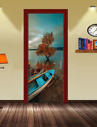 cheap -Decorative Wall Stickers / Door Stickers - Holiday Wall Stickers Landscape / 3D Living Room / Bedroom