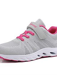 billige -Dame Sko Net / Elastisk stof Sommer Komfort Sportssko Løb / Fitness og cross-træning Flade hæle Rund Tå Sort / Rosa