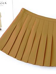 Недорогие -женщины выше колена линии юбки - сплошной цвет
