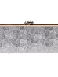 cheap -Women's Bags Polyester Evening Bag Buttons / Crystals Champagne / Black / Silver