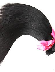 cheap -Malaysian Hair Straight Natural Color Hair Weaves / Human Hair Extensions 3 Bundles 8-28 inch Human Hair Weaves Capless Fashionable Design / Best Quality / For Black Women Natural Black Human Hair
