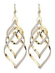 cheap -Women's Long Drop Earrings - European, Trendy Gold / Black / Silver For Masquerade / Holiday