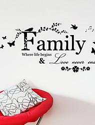 baratos -Autocolantes de Parede Decorativos - Etiquetas de parede de palavras e citações Personagens Sala de Estar / Quarto / Banheiro
