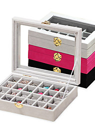 cheap -Carbon Fiber Oval Lidded Home Organization, 1pc Jewelry Boxes