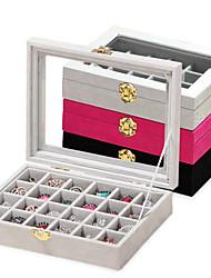 Недорогие -Большая коробка для хранения ювелирных изделий из дерева
