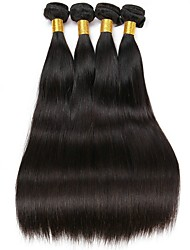 cheap -4 Bundles Indian Hair Straight Unprocessed Human Hair / Human Hair Gifts / Cosplay Suits / Natural Color Hair Weaves 8-28 inch Human Hair Weaves Fashionable Design / Cosplay / New Design Natural Color