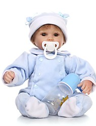 cheap -NPKCOLLECTION Reborn Doll Baby Boy 18 inch Silicone - Artificial Implantation Brown Eyes Kid's Boys' Gift