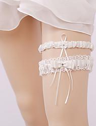 baratos -Renda Tom / Decoração / Casamento Wedding Garter Com Cadarço Ligas Casamento / Ocasião Especial