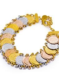 abordables -Femme Pièce de monnaie Chaînes & Bracelets - Plaqué or Ethnique Bracelet Arc-en-ciel Pour Soirée Cadeau
