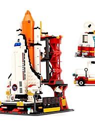 baratos -Blocos de Construir 679 pcs Aeronave / O centro de lançamento do ônibus espacial Criativo Dom