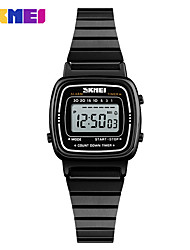 cheap -SKMEI Women's Dress Watch Digital Watch Digital 30 m Water Resistant / Water Proof Calendar / date / day LCD Alloy Band Digital Casual Fashion Black / Silver / Gold - Black Silver Rose Gold One Year