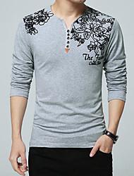 お買い得  -男性用 Tシャツ 活発的 / ベーシック フラワー