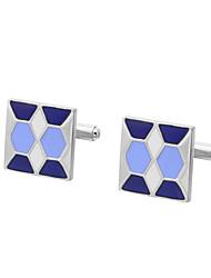 Недорогие -Геометрической формы Синий Запонки Медь Формальная / Классика Все Бижутерия Назначение Свадьба