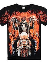 preiswerte -Herrn Einfarbig / Totenkopf Motiv - Totenkopf T-shirt Druck