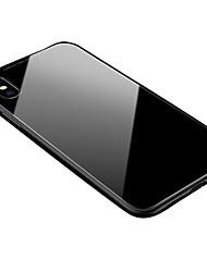 Недорогие -Кейс для Назначение Apple iPhone X / iPhone 8 Прозрачный / Магнитный Кейс на заднюю панель Однотонный Твердый Алюминий для iPhone XS / iPhone XR / iPhone XS Max