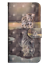 cheap -Case For Sony Xperia XA2 Ultra / Xperia XA1 Ultra Wallet / Card Holder / with Stand Full Body Cases Cat Hard PU Leather for Sony Xperia XZ2 / Sony Xperia XZ2 Compact / Xperia XZ2 Compact