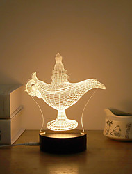 Недорогие -1 комплект 3D ночной свет Тёплый белый USB Творчество / Стресс и тревога помощи / Креатив 5 V