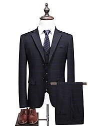 abordables -costumes Grandes Tailles Homme-Géométrique Revers en Pointe / Manches Longues