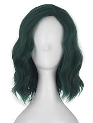 Недорогие -Косплэй парики Косплей Косплей Темно-зеленый Аниме Косплэй парики 14 дюймовый Термостойкое волокно Все Хэллоуин парики