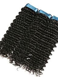 baratos -3 pacotes Cabelo Indiano Encaracolado Cabelo Humano Cabelo Humano Ondulado / Extensor 8-28 polegada Côr Natural Tramas de cabelo humano Fabrico à Máquina Melhor qualidade / Nova chegada / Para