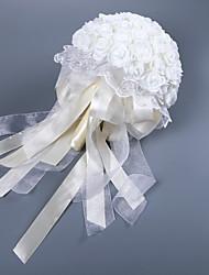 abordables -Fleurs de mariage Bouquets Mariage Comme Soie Satin / Dentelle / Mousse 11-20 cm