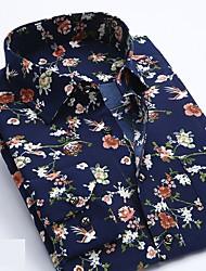 お買い得  -男性用 シャツ ベーシック ストライプ / 幾何学模様