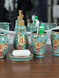 cheap -Bathroom Accessory Set New Design / Multifunction Contemporary Ceramic 5pcs - Bathroom Single