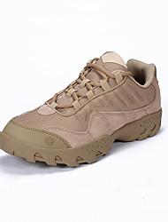 お買い得  -男性用 登山靴 EVA / ゴム 狩猟 / ハイキング 手ぶれ補正, 耐久性 レザー / チュール ブラック / アーミーグリーン / カーキ色