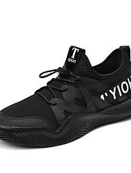 Недорогие -Муж. Полотно Весна & осень Удобная обувь Кеды Для прогулок Белый / Черный