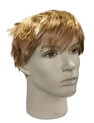 cheap -Synthetic Wig Straight Blonde Pixie Cut / Layered Haircut / Short Bob Synthetic Hair Anime / Party / Synthetic Blonde Wig Men's Short Capless / Natural Hairline
