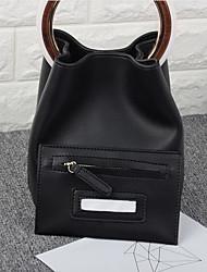 preiswerte -Damen Taschen PU Bag Set 2 Stück Geldbörse Set Knöpfe Schwarz