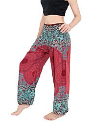 baratos -Mulheres Calças de Yoga - Azul Real, Vinho, Verde Escuro Esportes Boêmio Calças Roupas Esportivas Respirabilidade Com Stretch